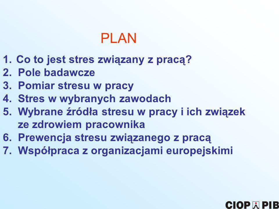 PLAN Co to jest stres związany z pracą 2. Pole badawcze