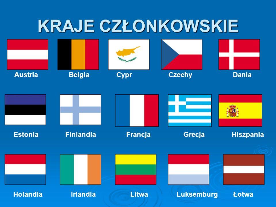 KRAJE CZŁONKOWSKIE Austria Belgia Cypr Czechy Dania