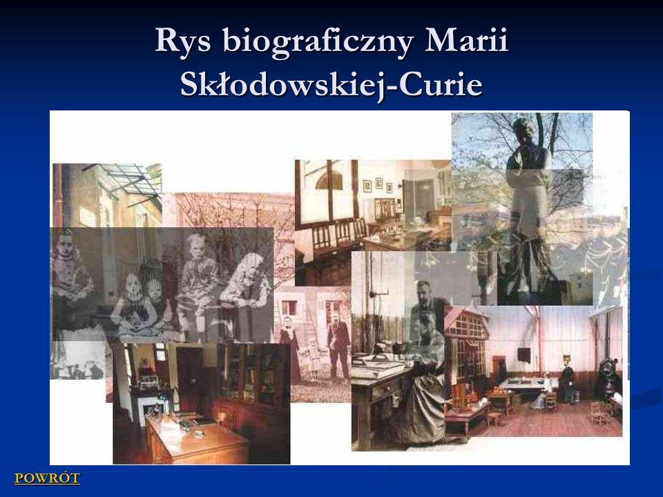 Rys biograficzny Marii Skłodowskiej-Curie