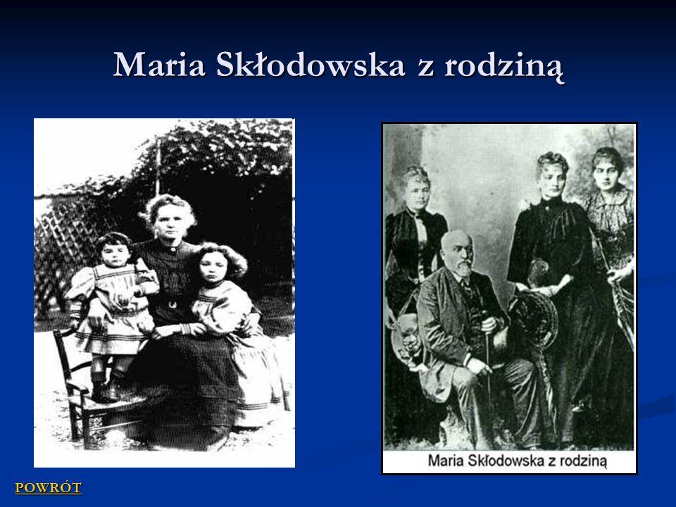 Maria Skłodowska z rodziną