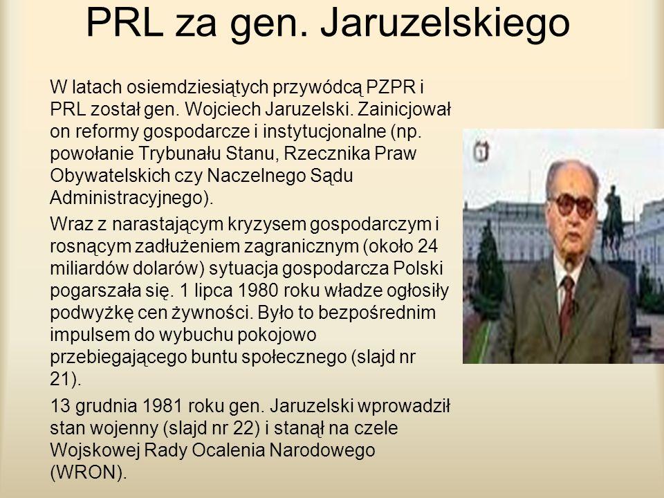 PRL za gen. Jaruzelskiego