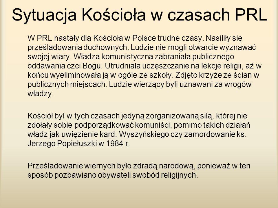 Sytuacja Kościoła w czasach PRL