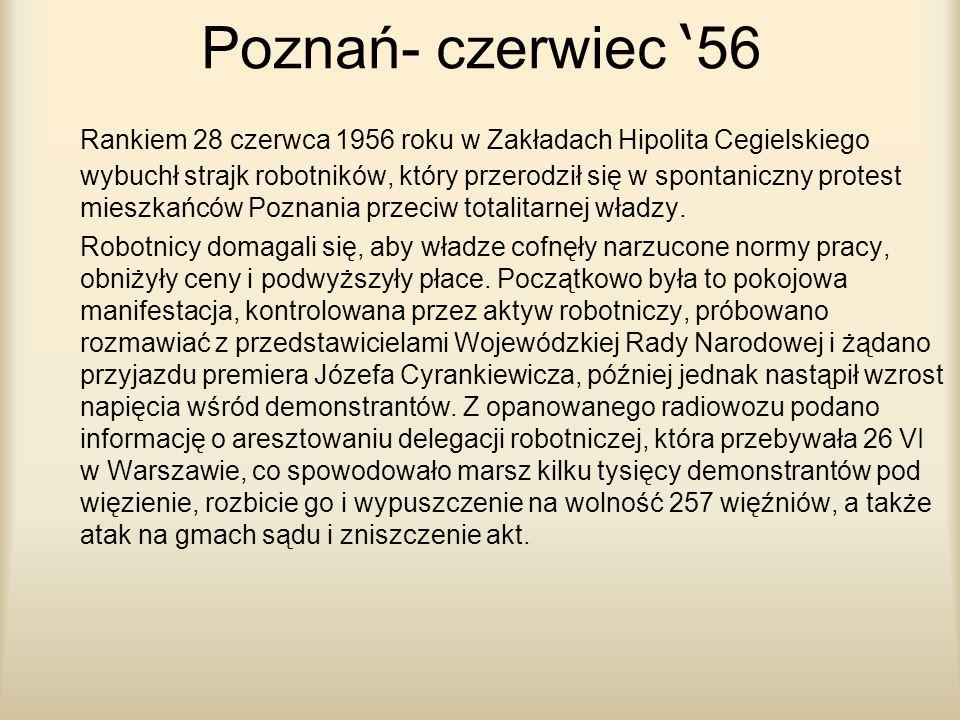 Poznań- czerwiec '56