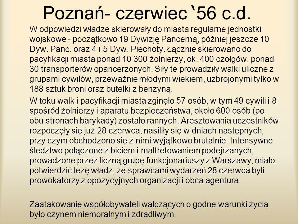Poznań- czerwiec '56 c.d.