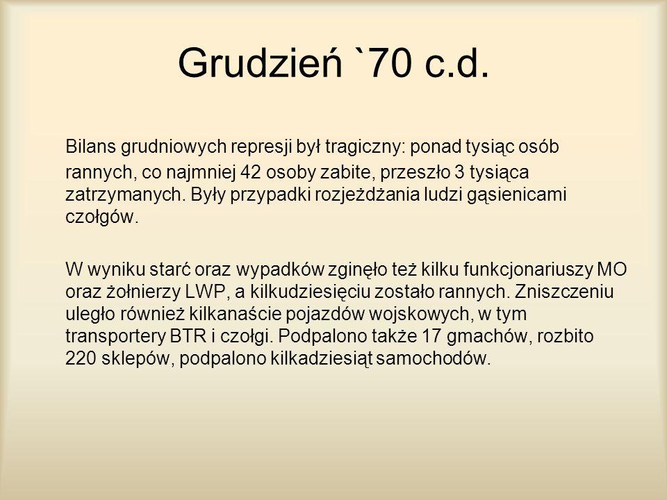 Grudzień `70 c.d.