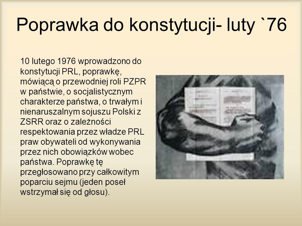 Poprawka do konstytucji- luty `76
