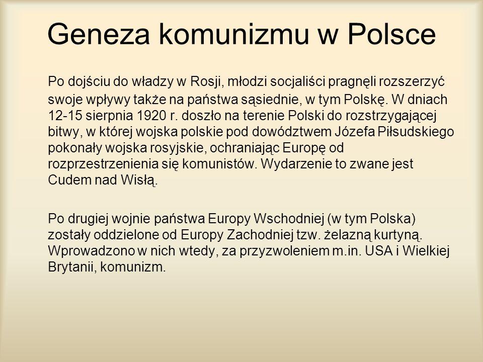 Geneza komunizmu w Polsce