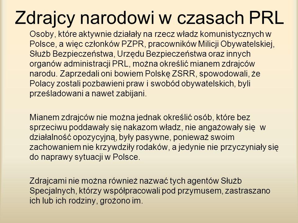 Zdrajcy narodowi w czasach PRL