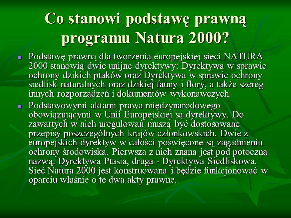 Co stanowi podstawę prawną programu Natura 2000