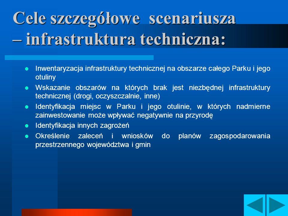 Cele szczegółowe scenariusza – infrastruktura techniczna: