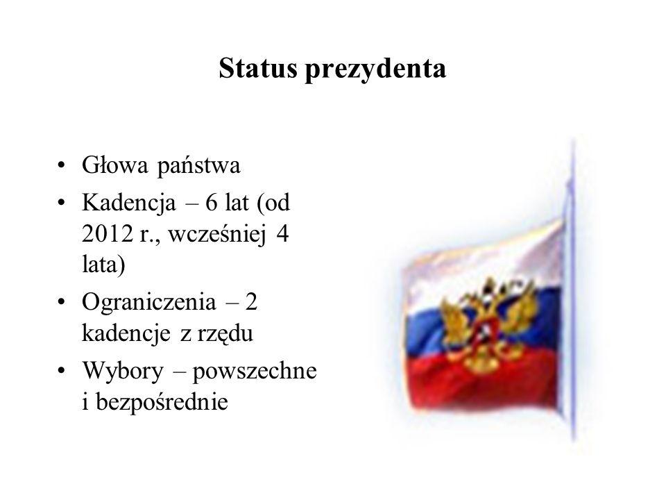 Status prezydenta Głowa państwa