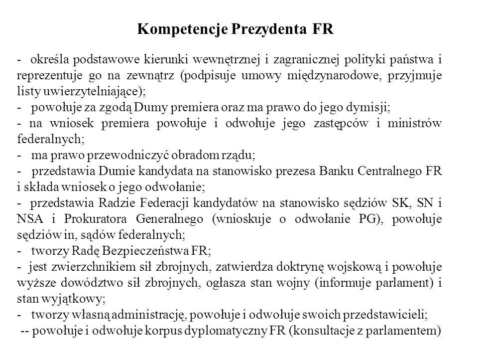 Kompetencje Prezydenta FR