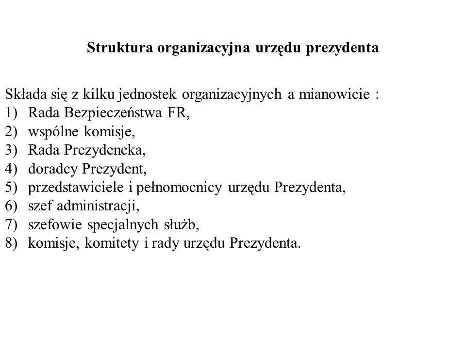 Struktura organizacyjna urzędu prezydenta