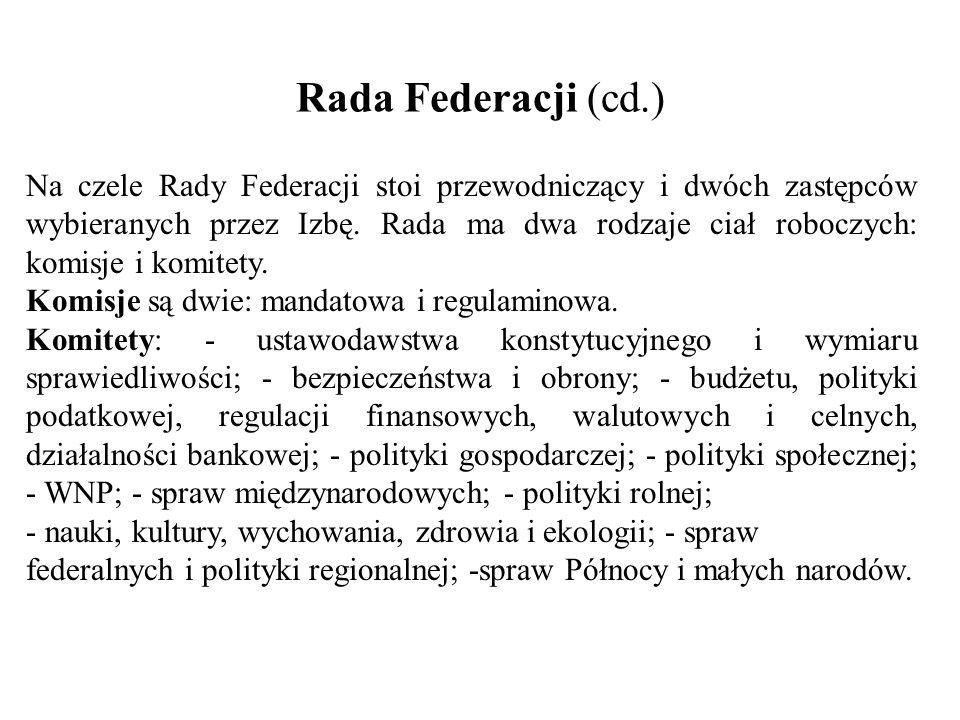 Rada Federacji (cd.)