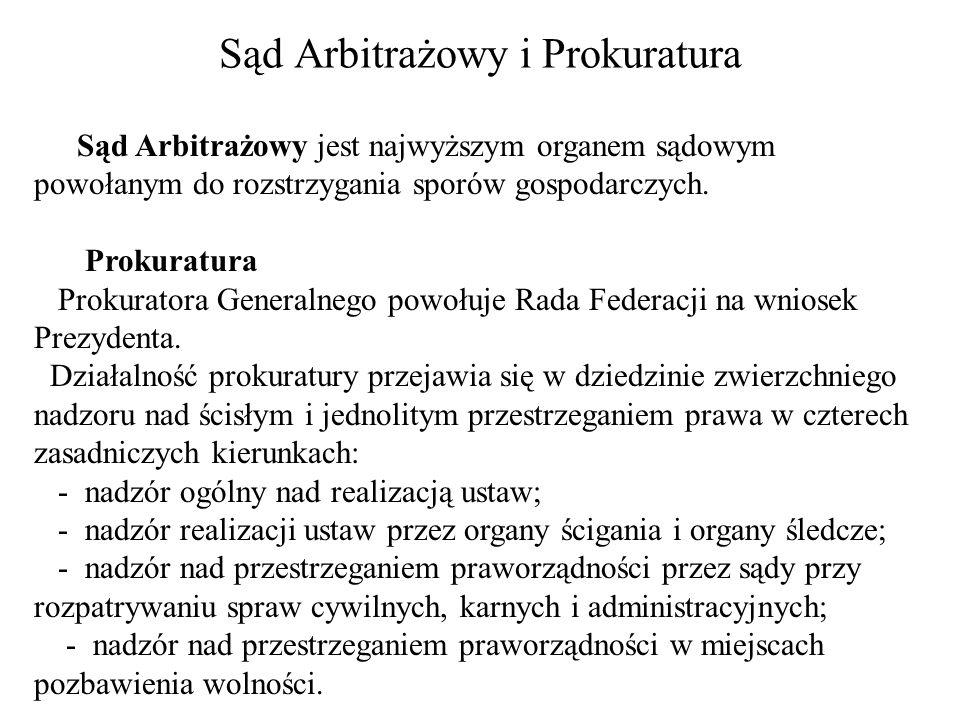 Sąd Arbitrażowy i Prokuratura