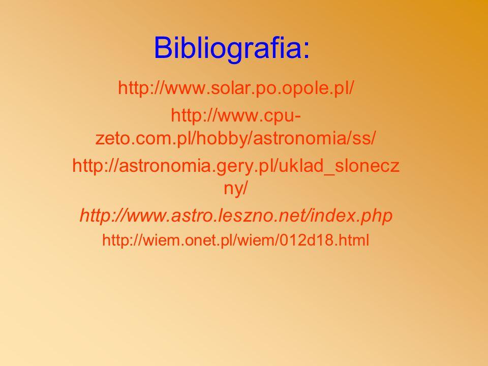 Bibliografia: http://www.solar.po.opole.pl/