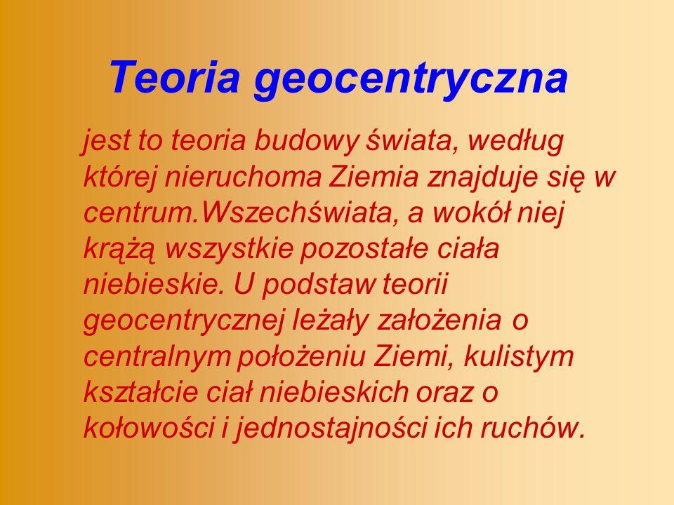 Teoria geocentryczna