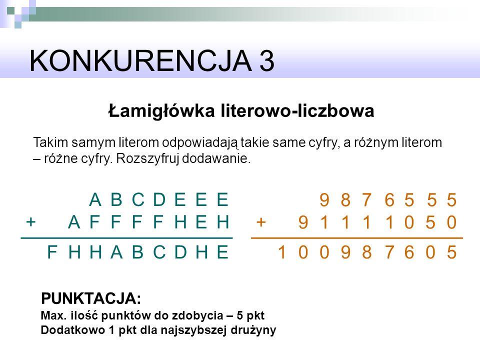 Łamigłówka literowo-liczbowa