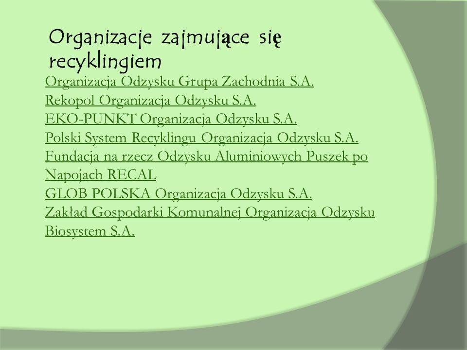 Organizacje zajmujące się recyklingiem