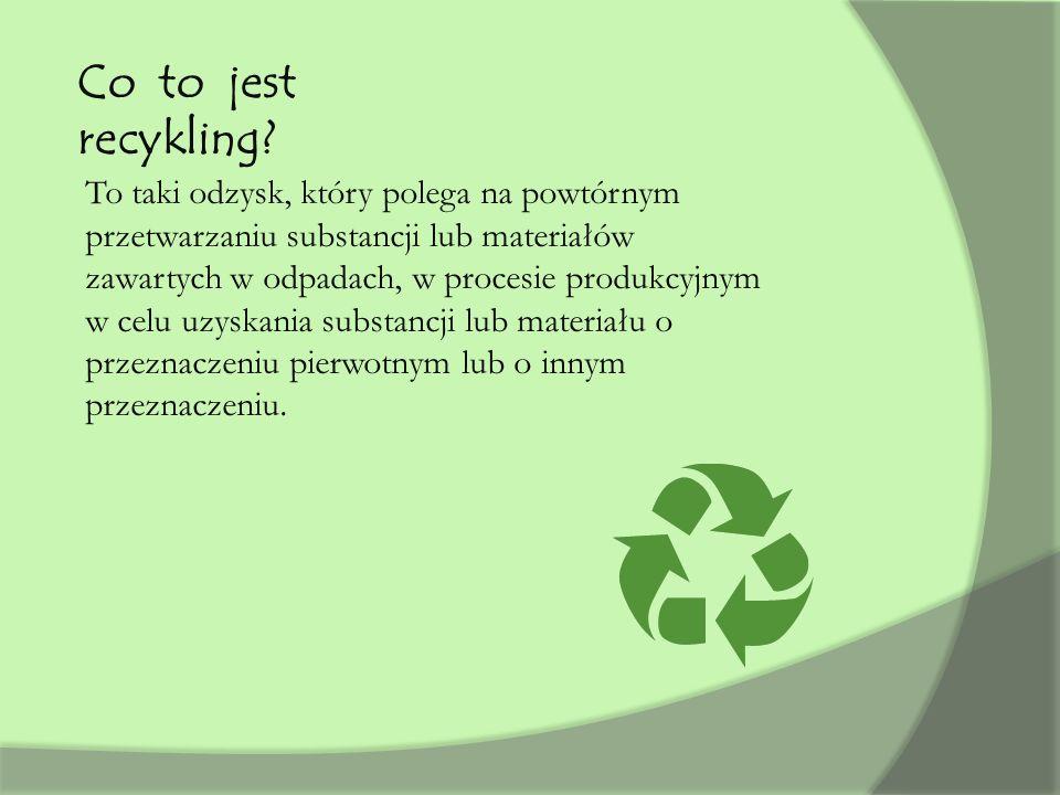 Co to jest recykling