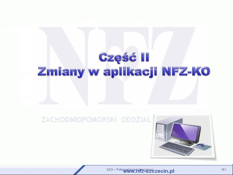 Zmiany w aplikacji NFZ-KO
