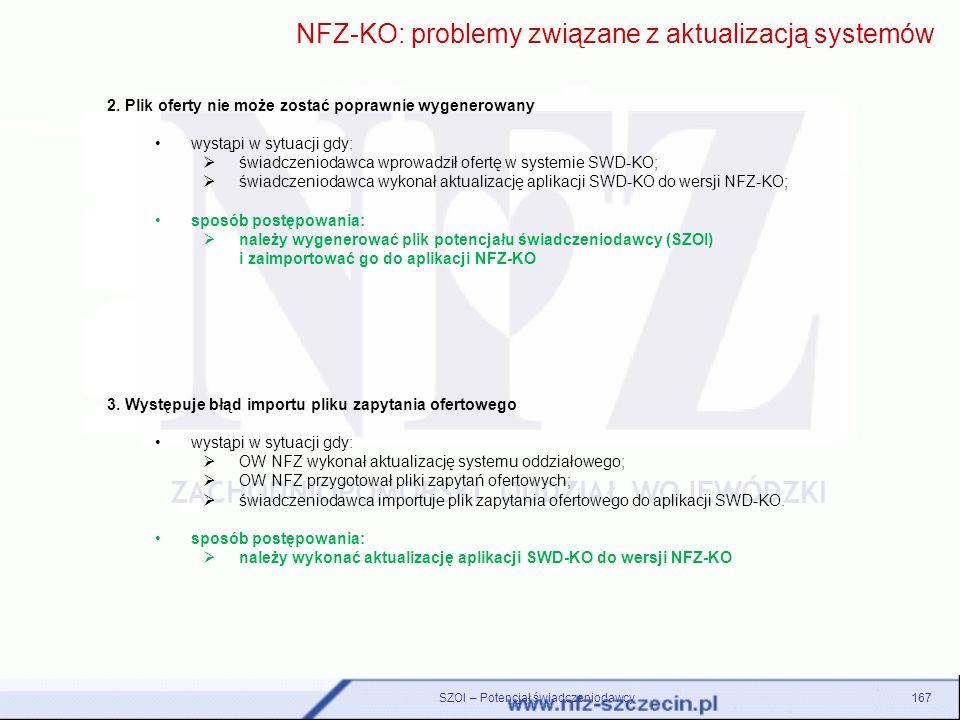 NFZ-KO: problemy związane z aktualizacją systemów