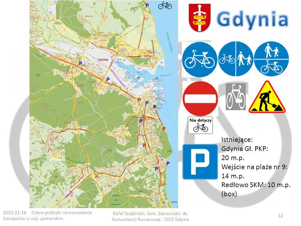 Gdynia Istniejące: Gdynia Gł. PKP: 20 m.p. Wejście na plaże nr 9: