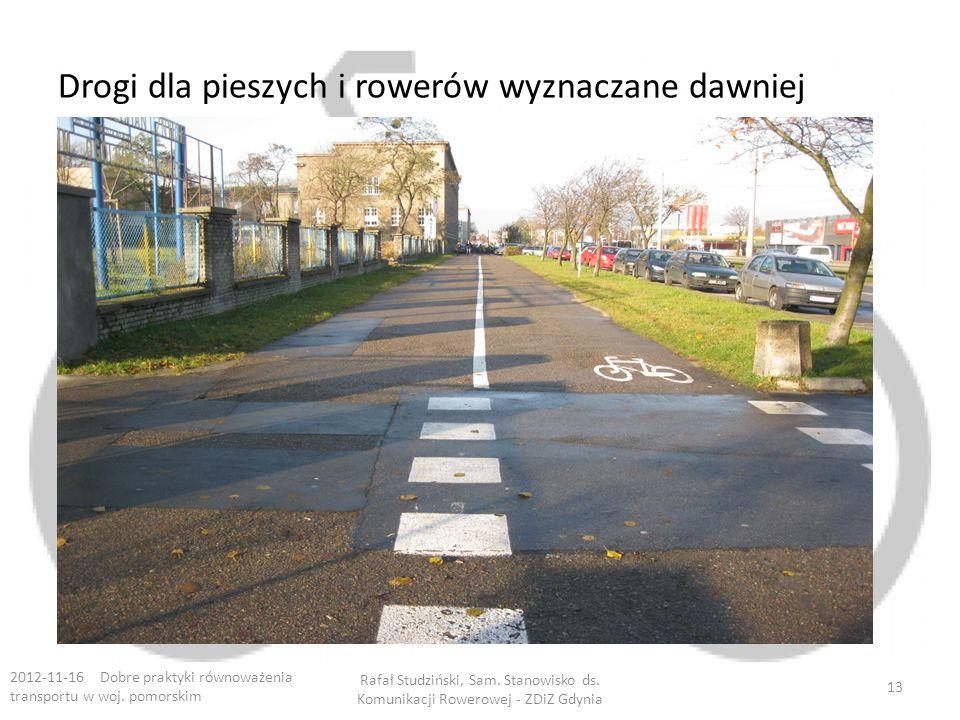 Drogi dla pieszych i rowerów wyznaczane dawniej