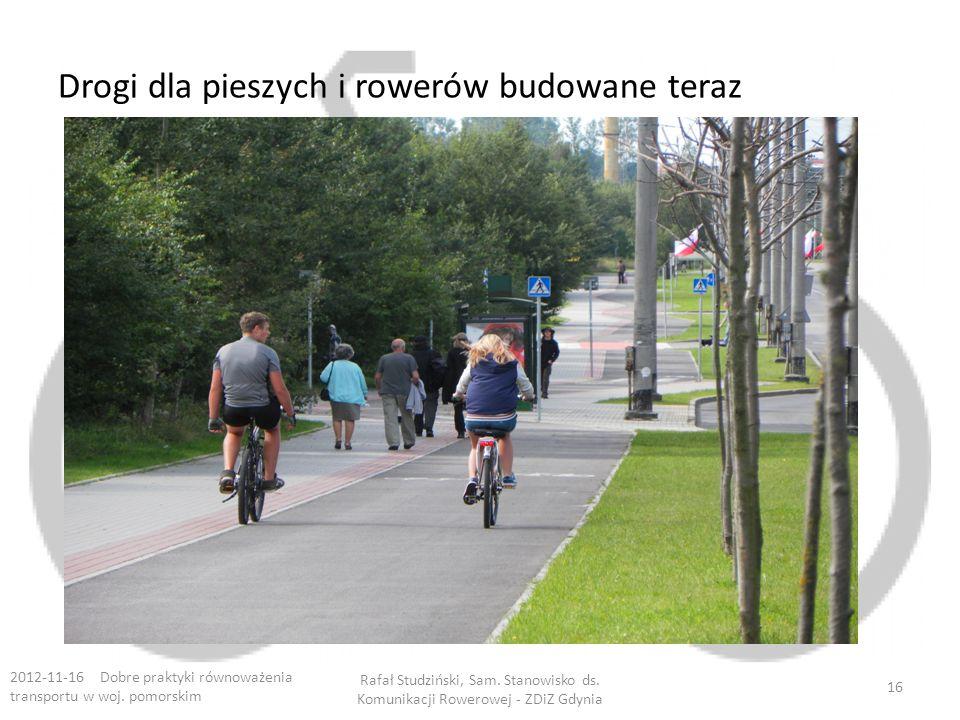 Drogi dla pieszych i rowerów budowane teraz