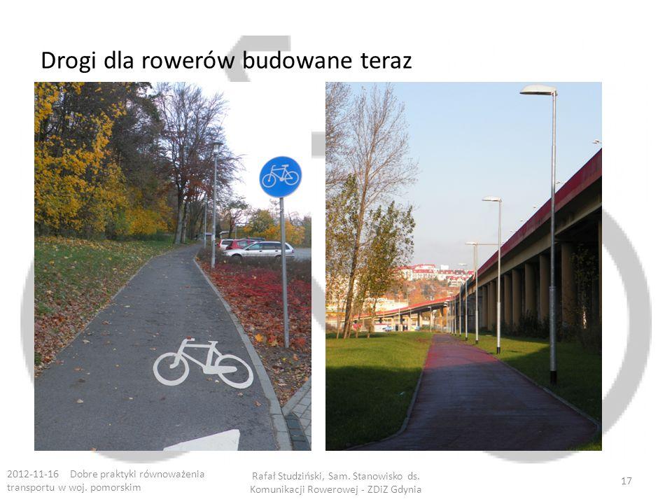 Drogi dla rowerów budowane teraz