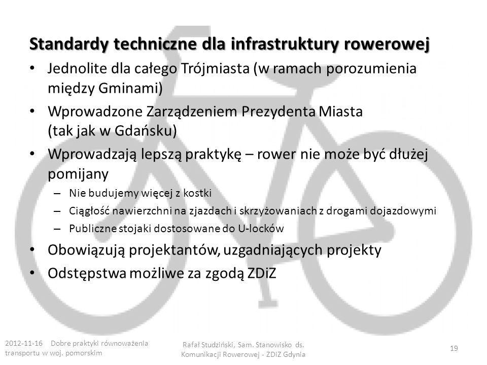 Standardy techniczne dla infrastruktury rowerowej