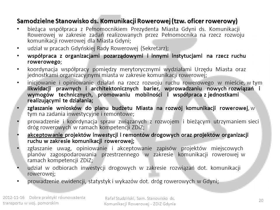 Samodzielne Stanowisko ds. Komunikacji Rowerowej (tzw. oficer rowerowy)