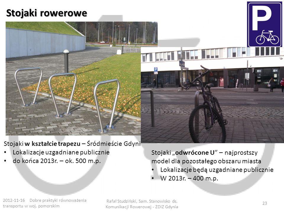 Stojaki rowerowe Stojaki w kształcie trapezu – Śródmieście Gdyni