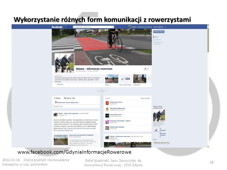 Wykorzystanie różnych form komunikacji z rowerzystami