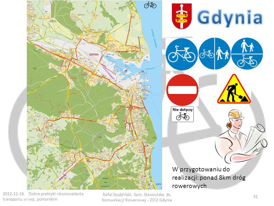 Gdynia W przygotowaniu do realizacji: ponad 8km dróg rowerowych