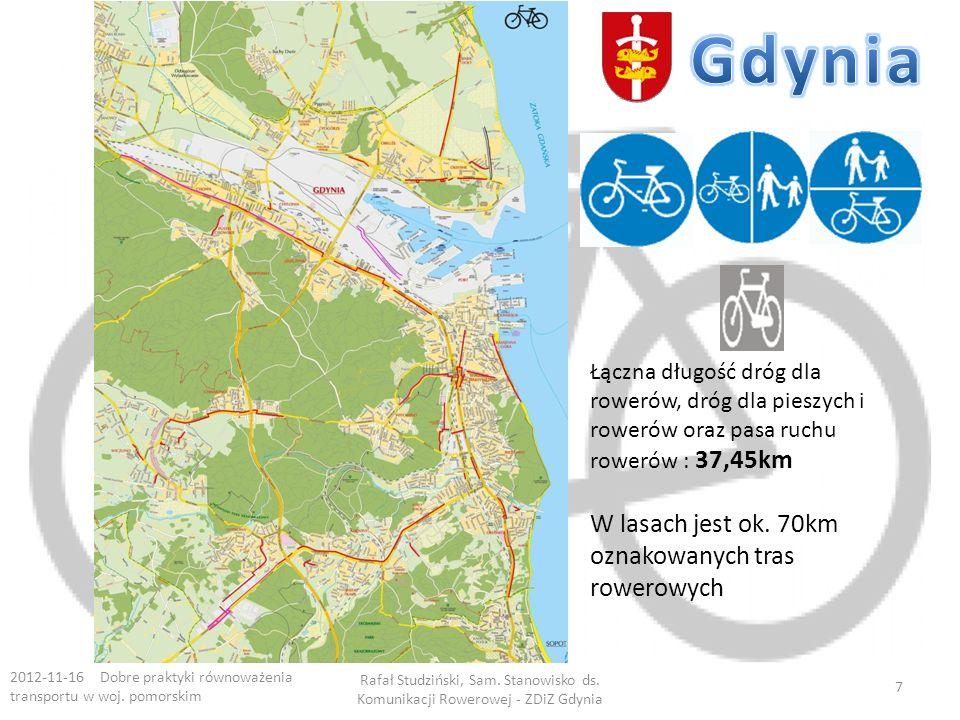 Gdynia W lasach jest ok. 70km oznakowanych tras rowerowych