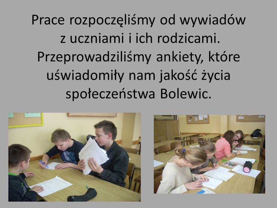 Prace rozpoczęliśmy od wywiadów z uczniami i ich rodzicami