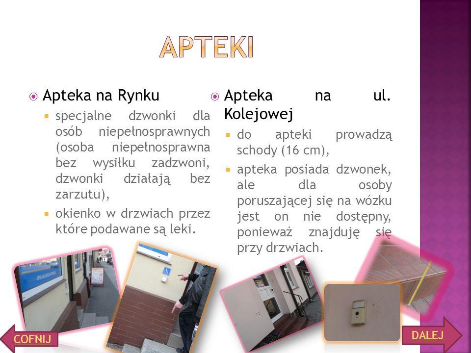 Apteki Apteka na Rynku Apteka na ul. Kolejowej