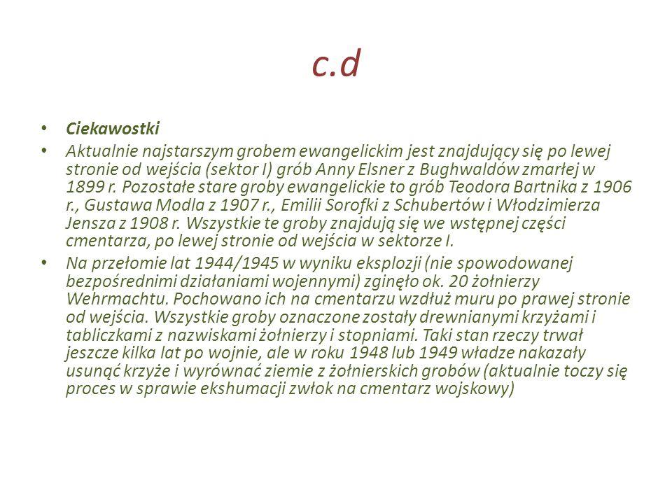 c.d Ciekawostki.