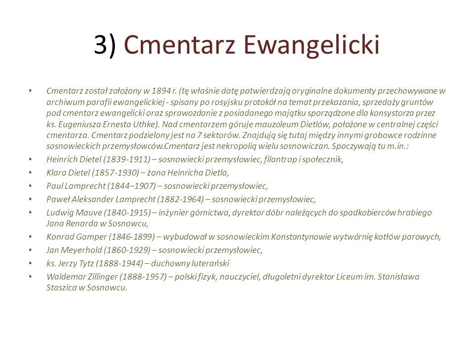 3) Cmentarz Ewangelicki