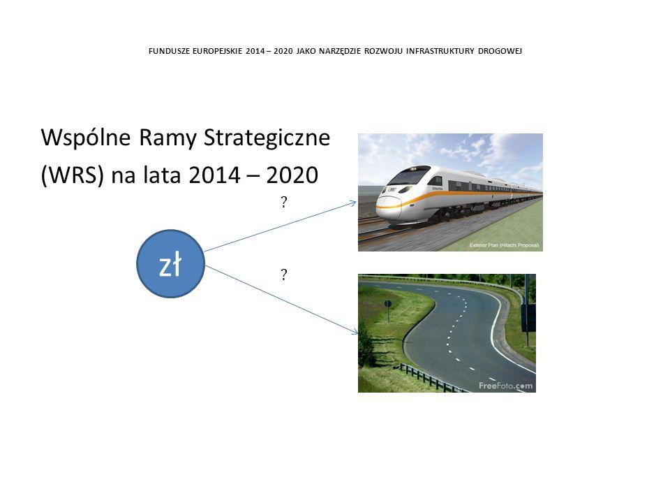 zł Wspólne Ramy Strategiczne (WRS) na lata 2014 – 2020