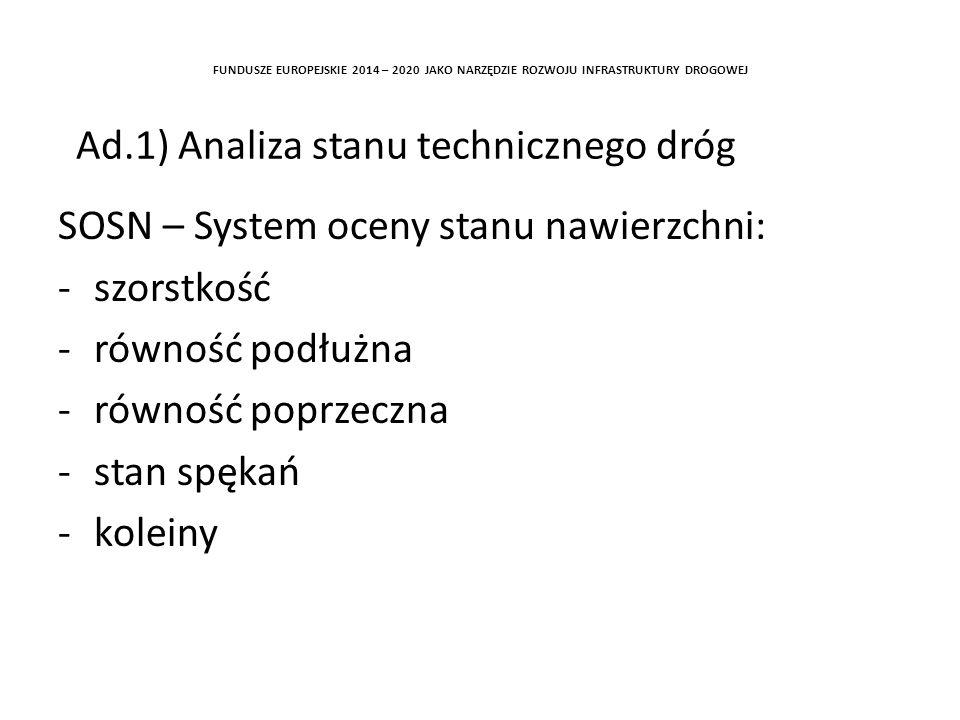 Ad.1) Analiza stanu technicznego dróg