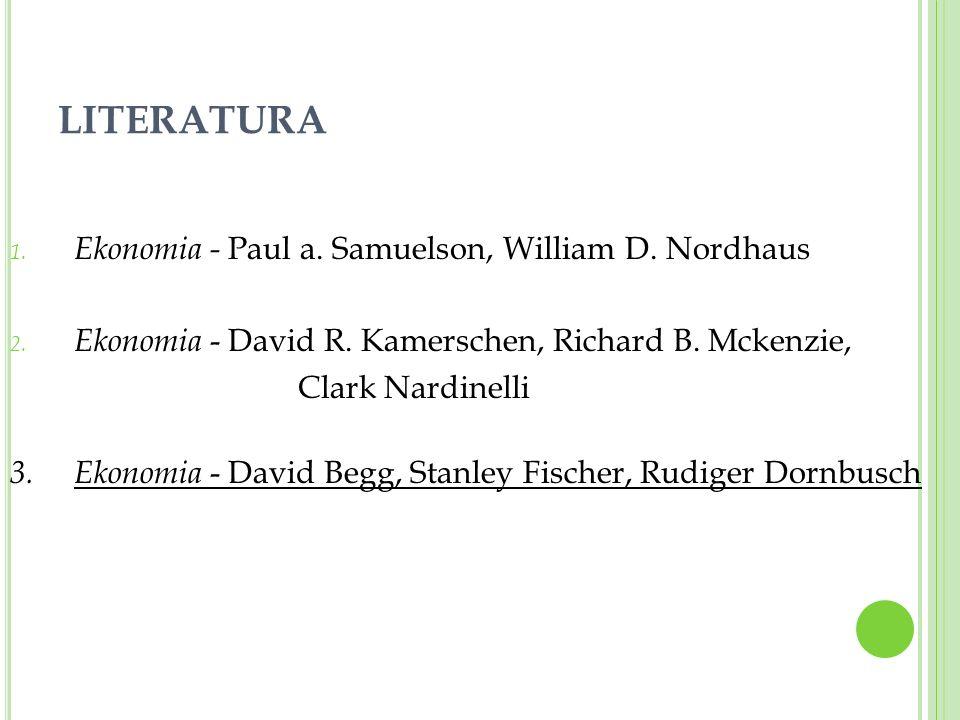 LITERATURA Ekonomia - Paul a. Samuelson, William D. Nordhaus
