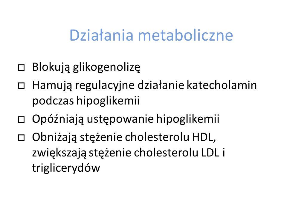 Działania metaboliczne