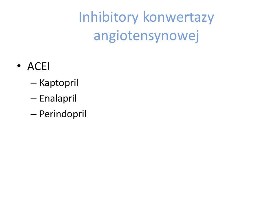 Inhibitory konwertazy angiotensynowej