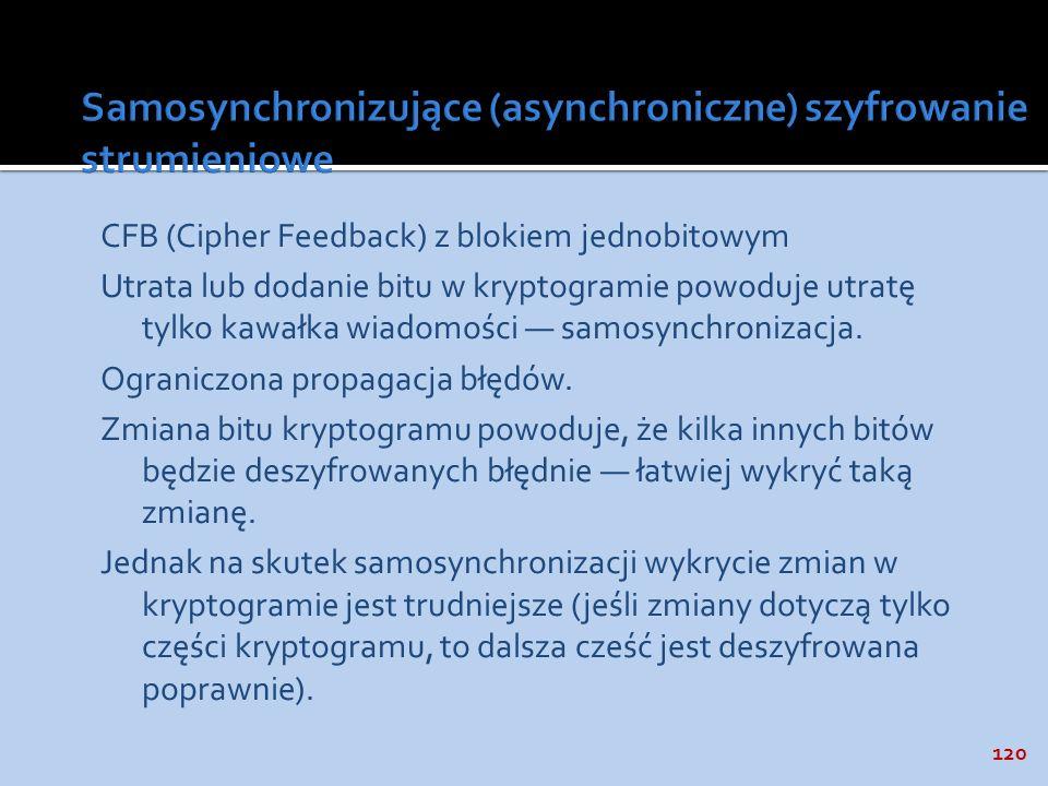 Samosynchronizujące (asynchroniczne) szyfrowanie strumieniowe