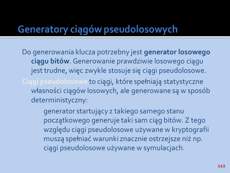Generatory ciągów pseudolosowych