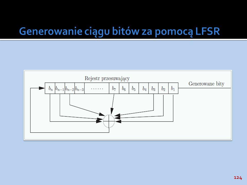 Generowanie ciągu bitów za pomocą LFSR