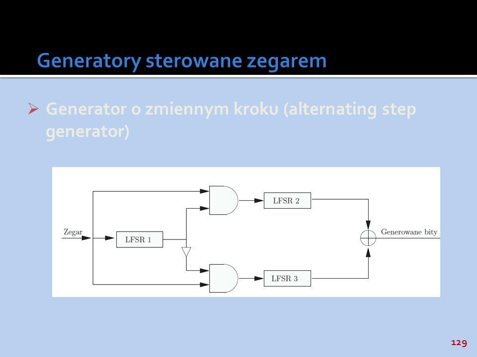 Generatory sterowane zegarem