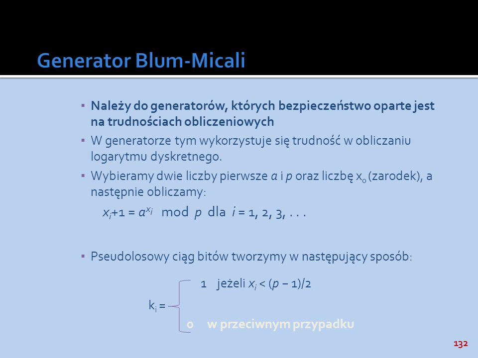 Generator Blum-Micali